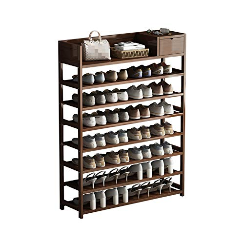 XuZGangRack Bambú zapatero, Habitación Sala zapatero Organizador, 6 Nivel del zapato Gabinete de almacenamiento con cajones, ahorro de espacio grueso del zapato de la torre Estante racks interiores