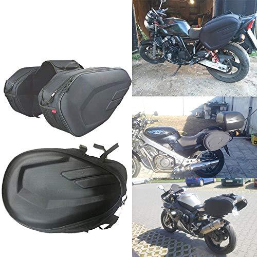 Baedivg Bolsas Impermeables para Silla de Montar para Motocicleta Bolsa para Casco de Montar a Caballo Bolsa Lateral Equipaje de Cola Maleta con Funda para Lluvia, para Motocicleta Harley