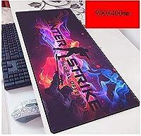マウスパッド特殊なテクスチャ表面900X400mmマウスパッド完璧な精度とスピードゲーミングマウスマットノートPC D