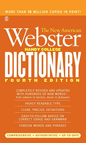 The New American Webster Handy College Dictionary: Fourth Edition