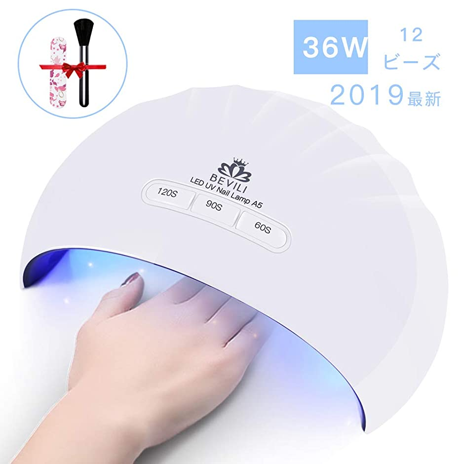 火山学蒸気通貨硬化用UV/LEDライトジェルネイルライト 肌をケア センサータイマー付き UVライト 速乾UV ネイル ハンドフット両用 ネイル led ライト USB対応 (ホワイト)