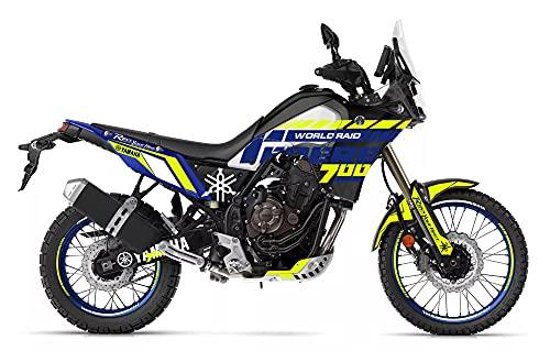 Motostick Graphics Kit de calcomanías compatible con Yamaha Tenere 700 2019-2021
