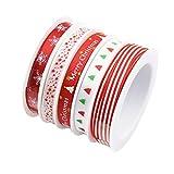 harayaa 25m 3/8'Christmas Grosgrain Sating Ribbon Appliques DIY Hair Bow Craft Gift