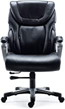 Staples 2715730 Denaly Bonded Leather Big & Tall Managers Chair Black