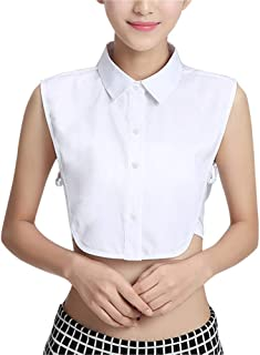 Women's Half Shirt Fake Collar Detachable Shirt Dickey...