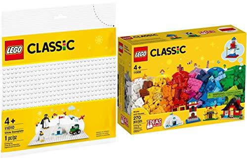 LEGO Classic 2er Set 11008 11010 Bausteine - Bunte Häuser + Weiße Bauplatte