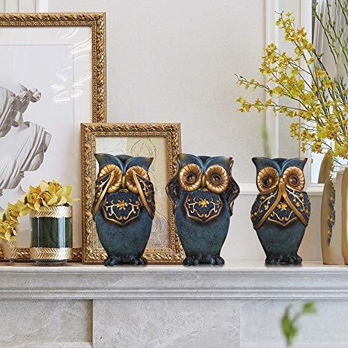 Sebasty deko Wohnzimmer Dekoration Raum Tand Schlafzimmer Bücherregal TV-Möbel Trennwand Schrank Handwerk Kreative Eule Ornament 11 * 16cm