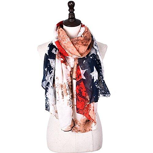 Dhmm123 Bufandas cálidas Bufandas para Mujer Ligero Color sólido Otoño Invierno Moda Bufanda Envuelve Bufanda (Color : Stars, Size : OneSize)