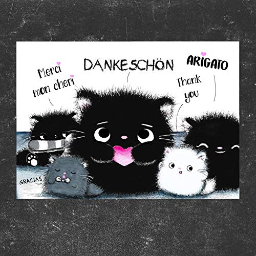 TinyTami★Katzen Postkarte★Kater MOO