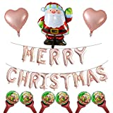 Omenluck 1 Set de Decoración de Fiesta de Navidad Y Decoración Globo Conjunto de Papá Noel Muñeco de Nieve Película de Aluminio Globo Centro Comercial
