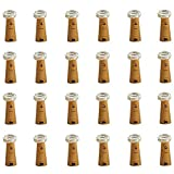 CUUCOR 24Pack Wine Bottle Lights with Cork, 7.2ft 20 LEDs Battery Operated Fairy Mini...