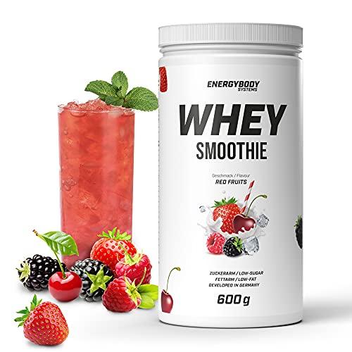 """Energybody Whey Smoothie """"Red Fruits"""" 600 g/Eiweiß-Shake & Protein Smoothie/mit echten Fruchtstückchen/Proteinpulver Whey/fettarm & zuckerarm / 15 Portionen"""