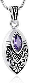 Imrsanl Cremation Jewelry with Crystal Eeys Memorial Charm Locket for Pendants Necklace for Ashes Keepsake Urn Jewelry for...