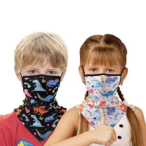 Find-MyWay Kinder Multifunktionstuch Mundschutz Schlauchtuch Atmungsaktiv Maske Schnelltrocknend Bandana Halstuch Sonnenschutz Loop Schal Weich Gesichtsmaske für Junge Mädchen