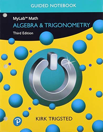 Guided Notebook for Trigsted Algebra & Trigonometry