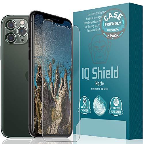 IQ Shield Matte Screen Protector Compatible with Apple iPhone 11 Pro (5.8 inch)(Case Friendly + Camera Lens)(2-Pack) Anti-Glare Anti-Bubble Film
