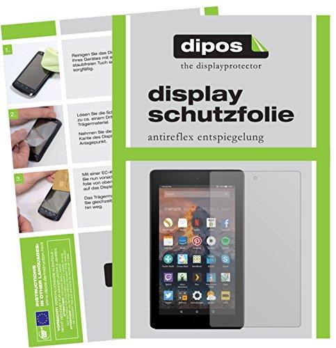 dipos I 2X Schutzfolie matt kompatibel mit Amazon Fire HD 8 (2017) Folie Bildschirmschutzfolie