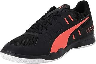 Puma Men's Auriz Black-nrgy Red White Badminton Shoes