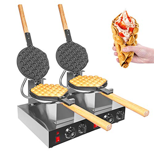 Review ALDKitchen Commercial Use Non-stick Electric Double Egg Waffle Maker Manufacturer Eggettes Ma...