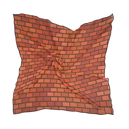 MALPLENA Damen Kopftuch mit Ziegelmauer-Druck, groß, quadratisch, warm, weich