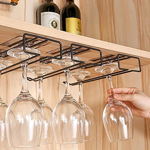 zhongbao Soporte de vidrio útil hierro vino estante de vidrio colgante barra estante estante de acero inoxidable vino vidrio estante soporte rollo papel titular vidrio titular