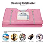 min Digital Far-Infrared Heat Sauna Slimming Blanket Sweat Steaming Body Shaper Blanket with Controller for Beauty Salon Spa and Home Use 110V-220V