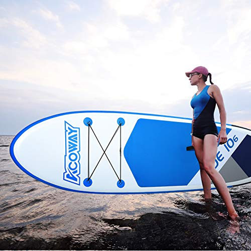 ACOWAY Aufblasbares SUP Board blau, 320 x 81.5 x 15 cm - 5