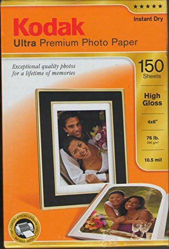 Kodak Ultra Premium Photo Paper Very popular! 150SHEETS Popular standard Gloss High 4X6