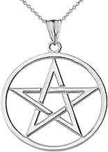 Best white gold pentagram pendant Reviews