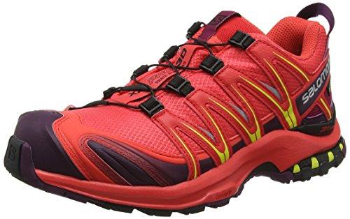 Salomon L40472400, Scarpe Femminili da Corsa e Trail Running XA Pro 3D GTX, Sintetico/Tessile, Arancione (Hibiscus/Potent Purple/Sulphur Spring), Misura: 40
