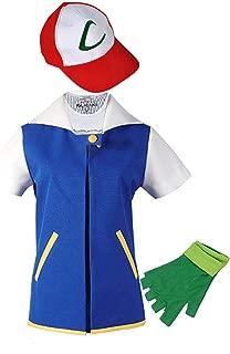 Adult Kids Costume Cosplay Jacket Gloves Hat Sets for Trainer Halloween Hoodie