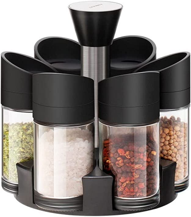 Condiment Jar Spice Container seasoning Regular discount rotating Direct stock discount Stainless steel