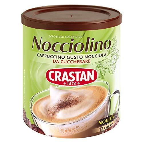 Crastan Nocciolino - Cappuccino Solubile Gusto Nocciola - Barattolo Da 150 Gr. - 12 Tazze