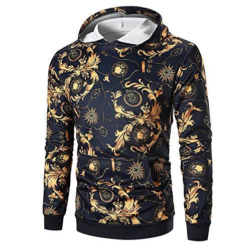 Primavera y otoño nuevos hombres suéter casual moda cuello redondo manga larga impresión cuello alto manga larga camiseta
