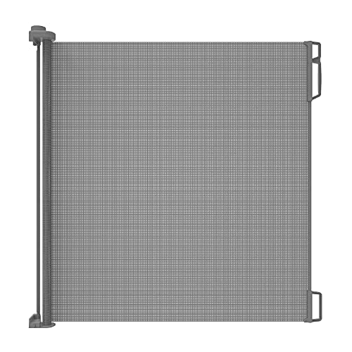 Perma Child Safety Indoor/Outdoor Retractable Baby Gate 41' Tall, Extends to 71' Wide, Gray