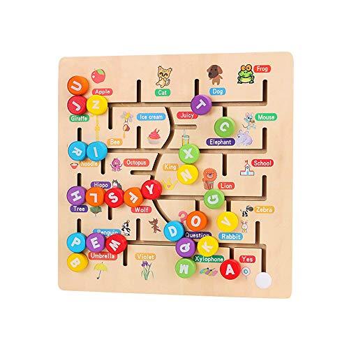Laberinto para Niños Juguete Madera Nuevo Alfabeto Digital Maridaje Laberinto Juguete Interactivo para Padres E Hijos Niño Niña Mejor Regalo De Cumpleaños