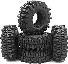 5pcs RC 1.9 Mud Slingers Tires Super Grip Tyre Height 120mm/4.72inch Fit 1.9 Beadlock Wheel Rim