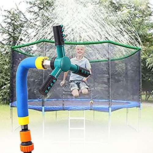 RDJSHOP Aspersor de Trampolín 360 ° Rotating Garden Lawn Sprinkler Accesorios para Rociadores de Agua, Niños Niñas Rociador de Trampolín para Parque Acuático de Verano