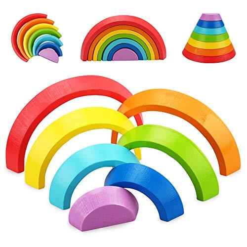 Juguetes Regalos para niñas niños de 1 2 3 años niños pequeños de 12 a 18 24 meses bloques de construcción de madera juguetes para bebés juguete sensorial Montessori para pequeños regalo de cumpleaños