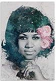 WZGJZ Leinwanddruck Aretha Franklin Wandkunst Poster