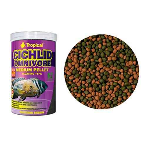 Tropical Cichlid Omnivore Medium Pellet, 1er Pack (1 x 500 ml)