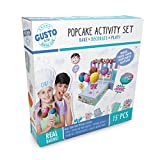 Childrens Cake Pop Maker Incs Silicone Cake Pop Moulds, Piping Bag w/ 4 Nozzles, Sticks, Popcake Display, Sticker Set, Recipe Card & more! Great Childrens Baking Set, Real Baking Sets for Teenagers