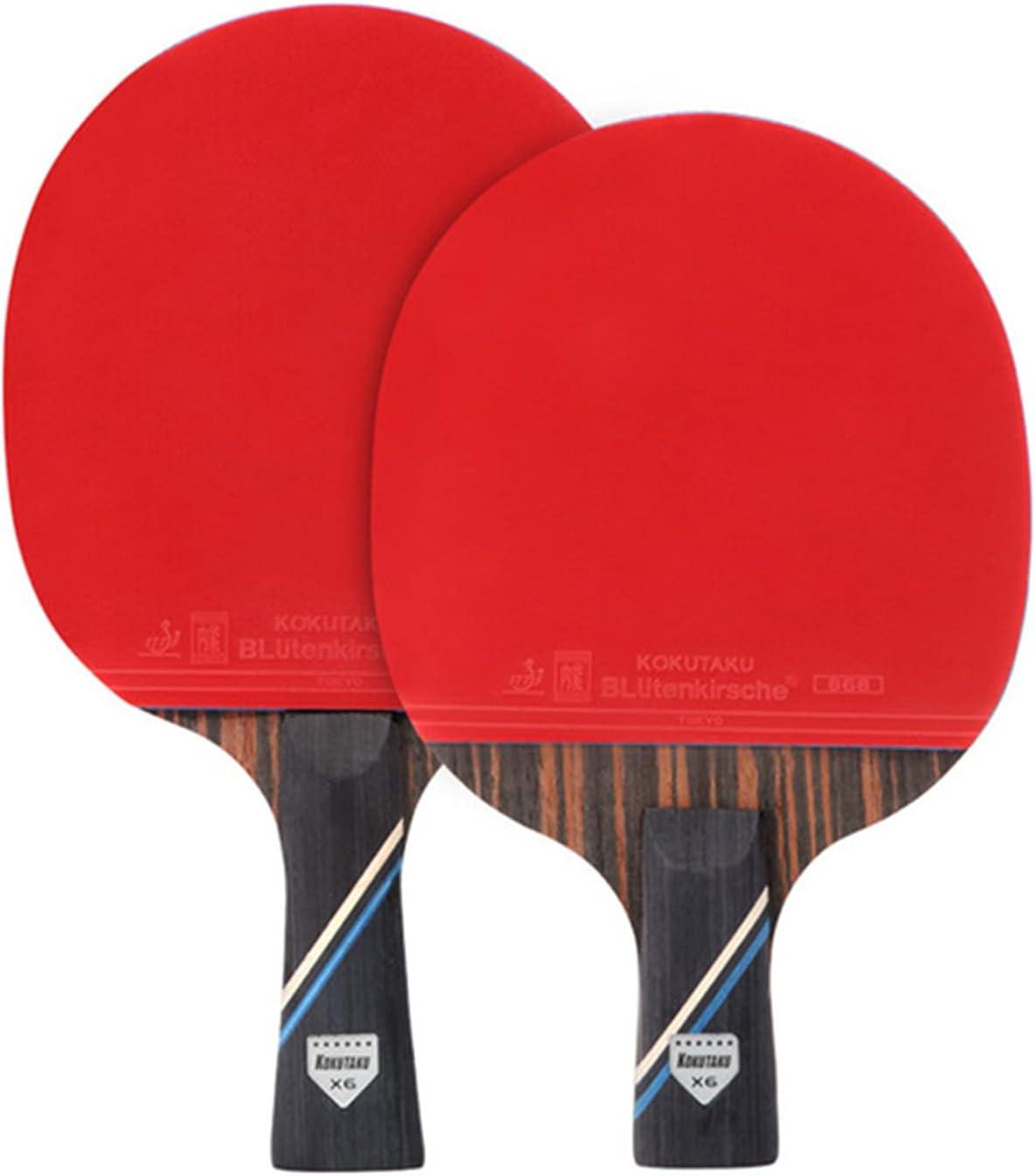 Bartholomew KOKUTAKU PingPong Palas con estructura de carbono, ligeras, de larga duración, cómodas a mano, el mejor regalo para los aficionados al deporte