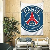 Paris Saint-Germain Football Club タペストリー壁掛け大型壁装飾リビングルーム寝室窓部屋装飾パーソナリティギフト多機能家の装飾ギフト 230×150cm