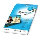 Papyrus 88081852 Fotopapier Opti Photo Plus: A4, 180 g/m², 50 Blatt, hochweiß, hochglänzend, Sofort Trocken, für Tintenstrahldrucker, weiß