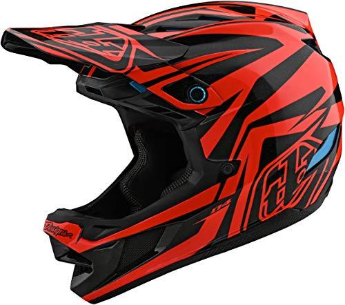 Troy Lee Designs Adult | BMX | Downhill | Mountain Bike | Full Face D4 Composite MIPS Slash Helmet (X-Large, Orange/Black)