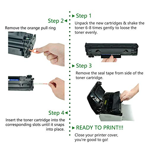 GREENCYCLE 14A CF214A Black Toner Cartridge Replacement Compatible for Laserjet Enterprise 700 M712dn 700 M712xh 700 MFP M725f Printer Photo #6