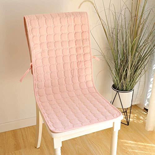 HYLX Kissensitz, gewaschenes Baumwoll-Esszimmerstuhlkissen, Sitzkissen, Rückenkissen 2 in 1 verbundenes einteiliges Kissen Stuhlkissen, Krawatte für den Heimgebrauch, im Freien