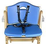 Abiie Beyond Wooden High Chair Cushion Set only. (6 Months up to 250 Lb) (Cushion Set Only: Blueberry Blue).
