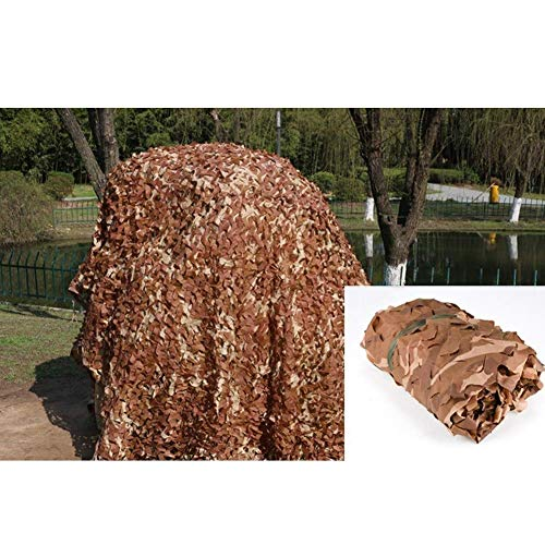 ZXL schaduw doek Desert Camouflage Net Zonneblok Ademende Decoratie met Touw Frame Duurzaam Buiten, Aanpasbaar (Maat: 2x4m) 3x4m